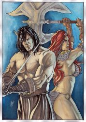 Conan and Red Sonja by Ceduardocunha