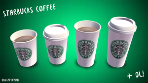 [MMD] Starbucks Coffee + DL by CurryKitten