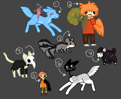 Mixed adopts [1/7 OPEN] by FluffyDisorder