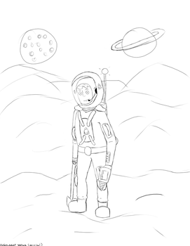 Space Pioneer Sketch by SirScrubAlot