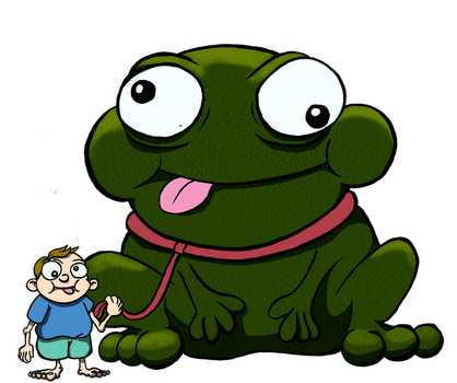 A boy and his frog by RAWilco