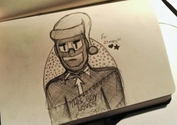 Secret Santa - Spy from TF2 by Kittygoesrawrrr