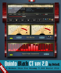 Quinto Black CT 2.0 by PeterK. UPDATED by winampers-pro