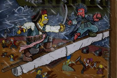 Simpsons V Futurama PotC Fight by AngelCrusher
