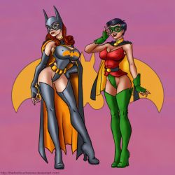 BatBabe and Swallow Pinup, Fini by thefooltouchstone