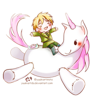 Riding Unicorn by yuukiartda