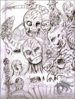 JEH Freddy Sketches and Concepts [REWORK] by WeirdHyenas
