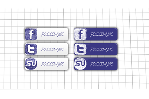 Social Icons Hand Written by psd-fan