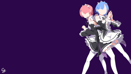 Ram and Rem - Re Zero by ArseySenpai