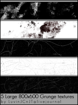 5 Large Grunge Textures by IbeLIEve6277