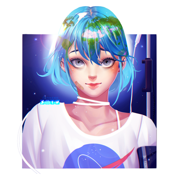 Earth-chan by Dangaso
