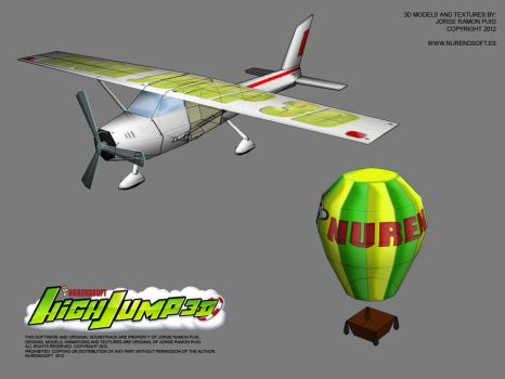 HIGH JUMP 3D - Game 3D models 01 by Nurendsoft