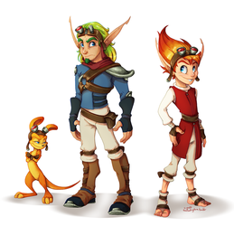 Jak and Dax gang by C-Puff