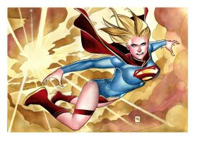New SuperGirl Commission to Gretchen by taguiar