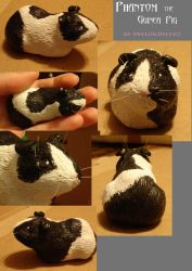 Guinea Pig Sculpture by PsychicPsycho
