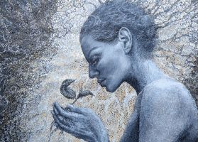 Detail of *Giving* by EvaGataArtist