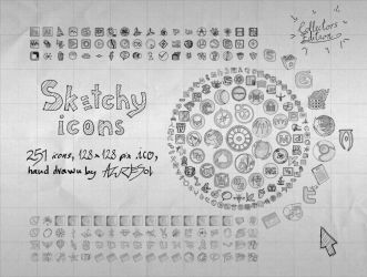 Sketchy Full Icons by AzureSol