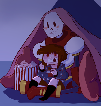 They're totally watching glitchtale by Channydraws