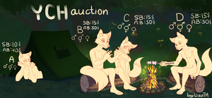 GROUP YCH AUCTION OPEN by lizathehedgehog