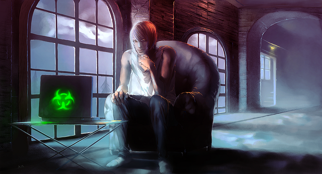 Anonymous Agony - game illustration 3 by xamxam