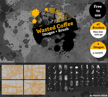 Coffee Stains + Brush by MartinSiilak