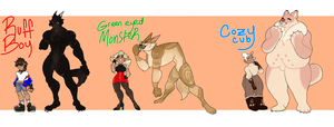Werewoof Adopts (CLOSED, THANK YOU!) by sl1med0g