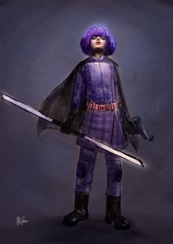 Hit Girl quick sketch by mking2008