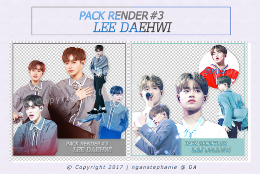 PACK RENDER 03 - LEE DAEHWI Wanna One [Produce101] by nganstephanie