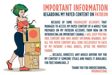 IMPORTANT - Future Payed Patreon Content by moondustowl