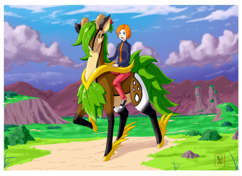 Commission .: The Forest Stallion: Treehorse :. by Icandoittoo