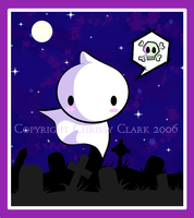 Ghost in the Graveyard by clrkrex