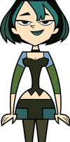 Total Drama - Gwen (Front View) by Terrance-Hearts-Art
