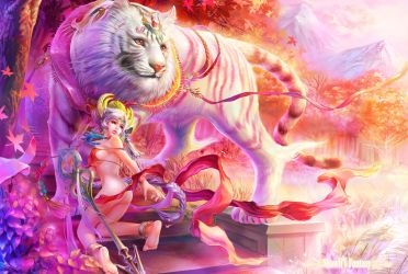 FOUR SYMBOLS-WHITE TIGER by shawli2007