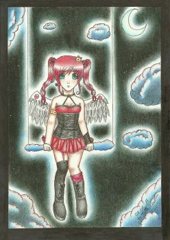 Sitting in the clouds by xXDarkSanctuaryXx
