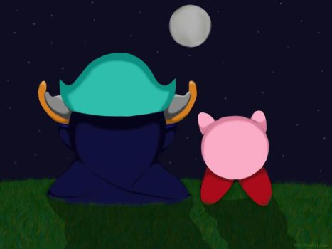 Meta Knight And Kirby by StellasStar