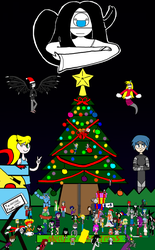 Merry Christmas fan-art self-collab by Masonworksnobrake