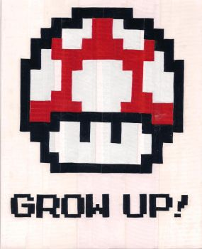 Grow Up Duct Tape Print by DuctileCreations