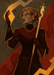 The Queen of Wands by Denythem