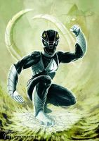 Power Rangers - Black Ranger Redesign by deralbi