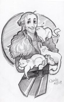 Anders and cats by Naeviss