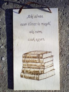 Quote about reading with pyrograph by TamaraFaith