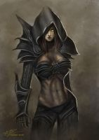 Diablo III - Demon Hunter by Laurine-Tellier