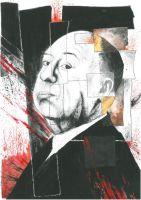 Alfred Hitchcock by Mihaelazzo