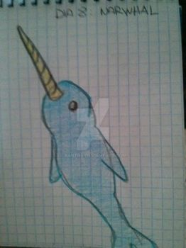 Dia 8 - DrawingAlongJuly Narwhal by Xantra