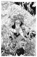 Red Sonja-Vulture s Cicle #2 Cover by wgpencil