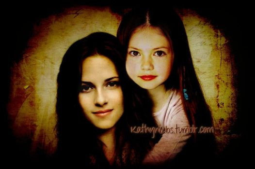 Momma and Daughter portrait by KathyWebs