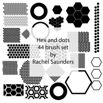 Hex and dots 44 brush set by Random-Acts-Stock