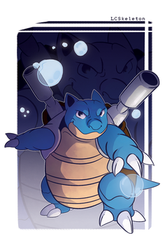 Blastoise by Lightcall-Skeleton