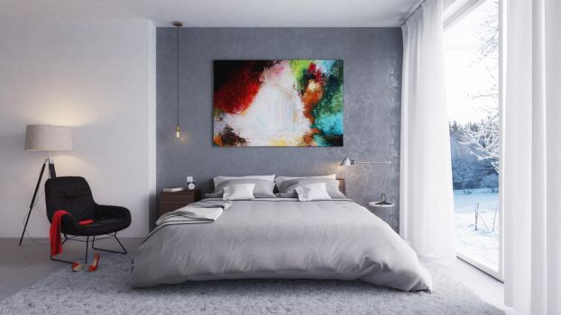 Gray Bedroom by Ermyan