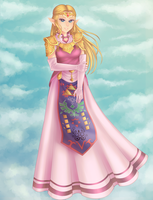 Commission: Zelda Princess by Christus-Imperat